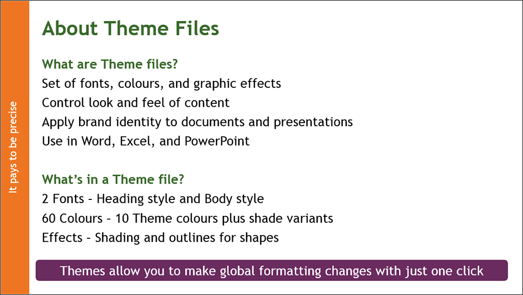 Microsoft Office Themes example after