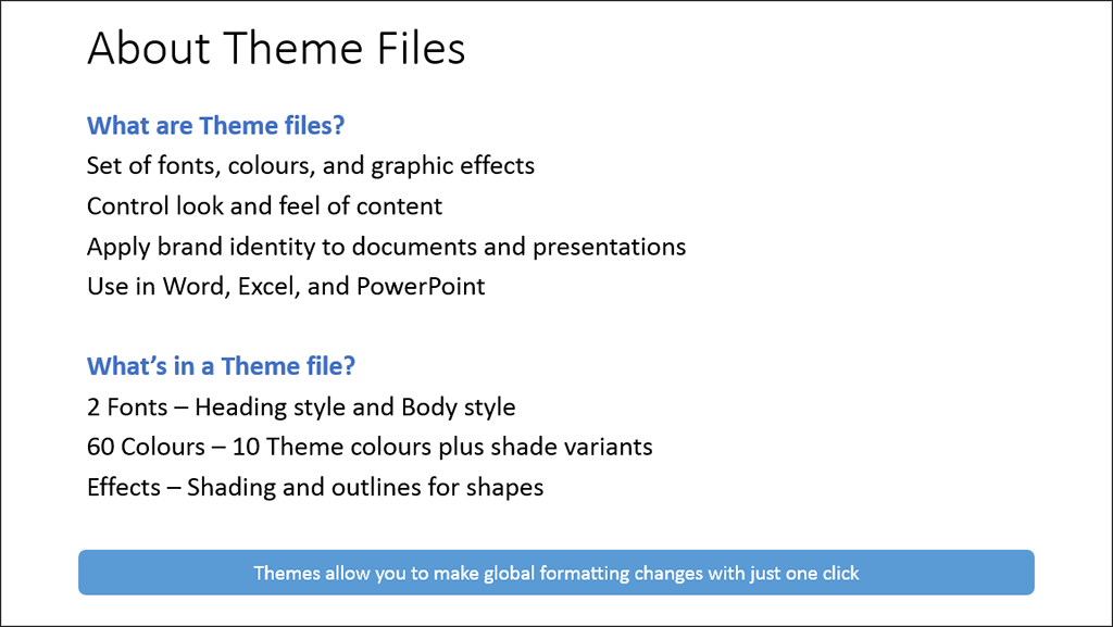 Microsoft Office Themes example1