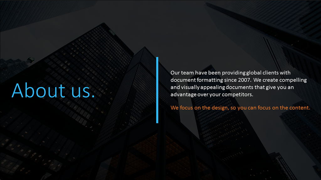 PowerPoint About Us Slide Layout