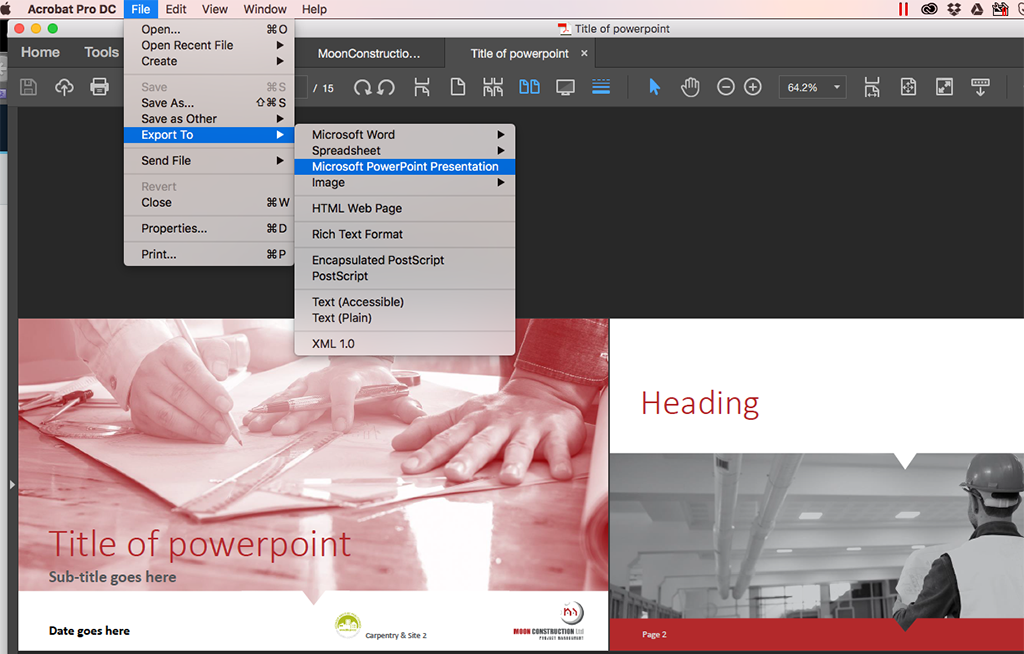 Convert InDesign to PPT