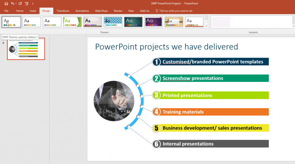 PPT DWP Theme Example